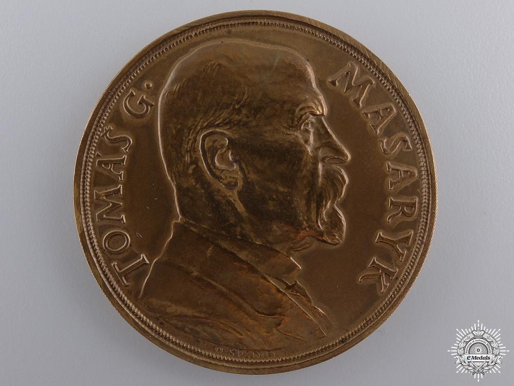 A 1935 Czechoslovakian Tomas G. Masaryk Medal; Bronze Grade