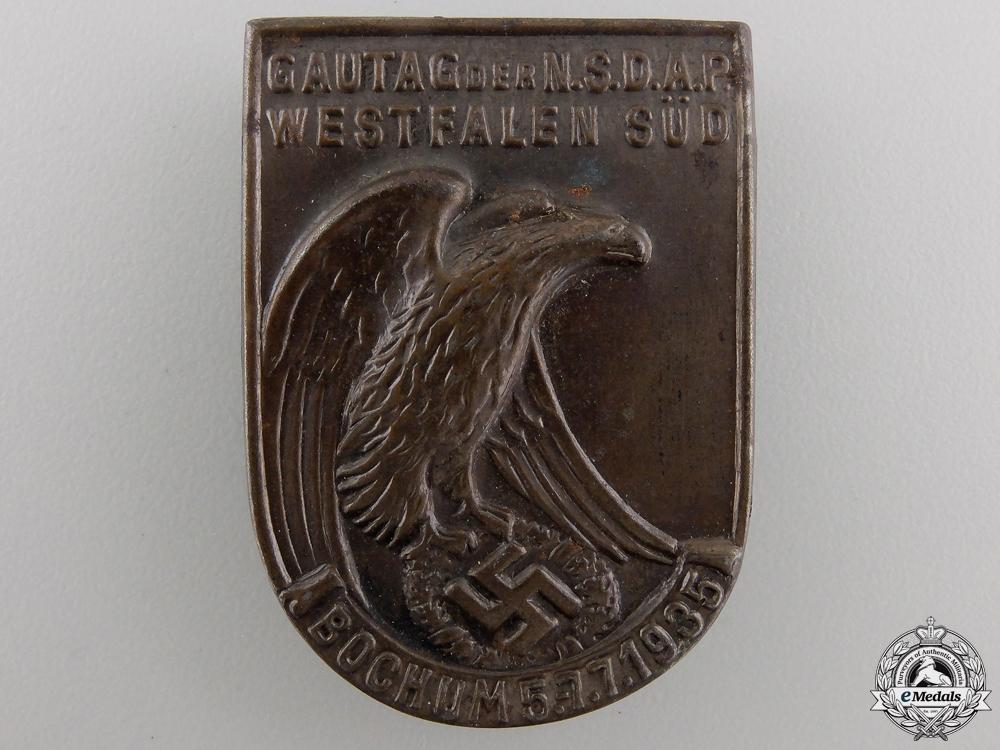 A 1935 NSDAP Gau Westfalen Süd Tinnie