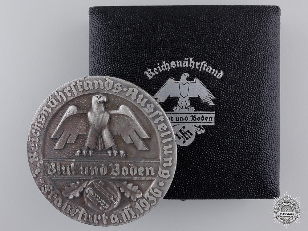 A 1936 German Ministry of Food & Agricultural Prize