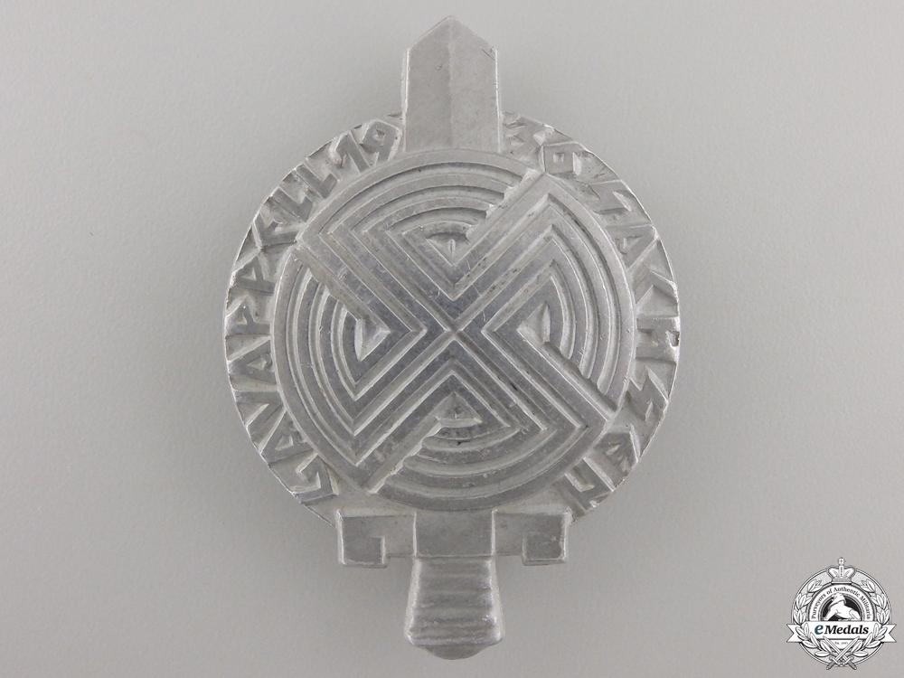 A 1936 Saxon Gau Roll Call Badge