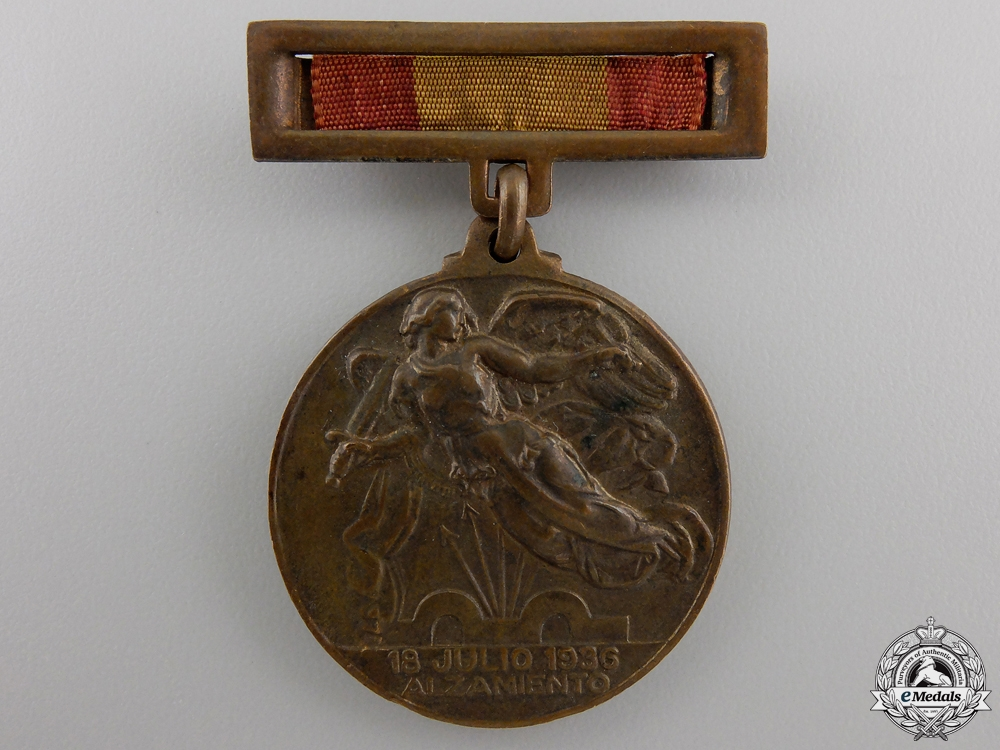 A 1936 Spanish Civil War Victory Medal for Nationalists