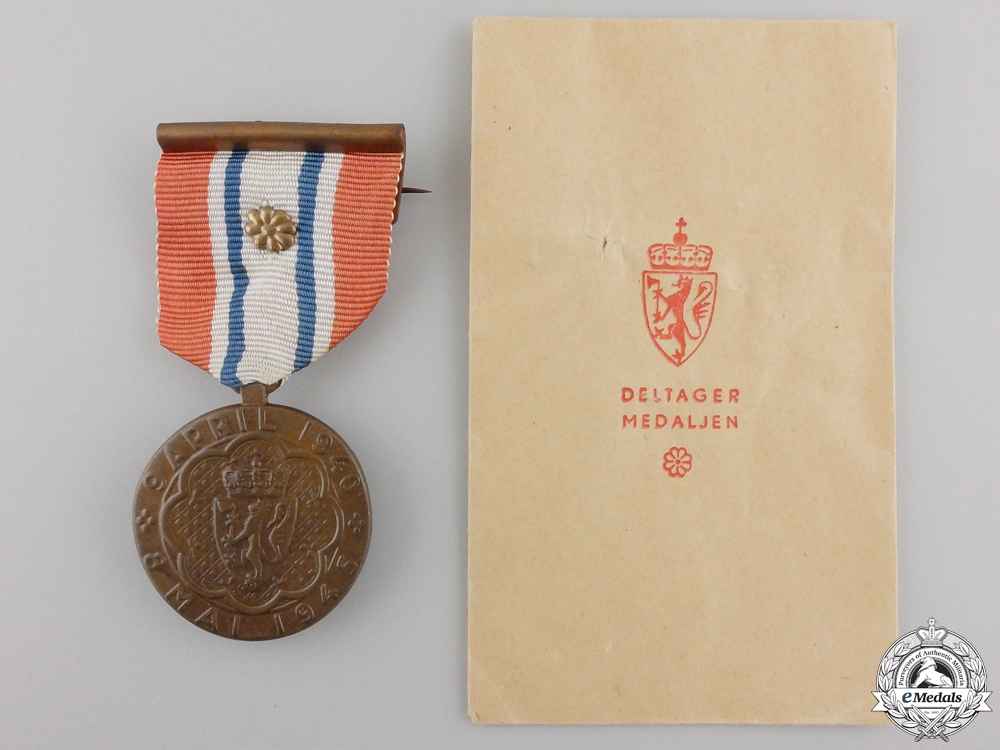A 1940-45 Norwegian War Participiation Medal