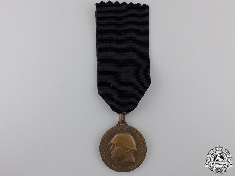 A 1940 Italian National Rally Posts and Telegraphs Medal