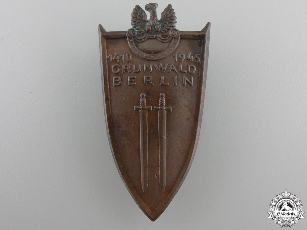 A 1945 Polish Grunwald Badge 1945