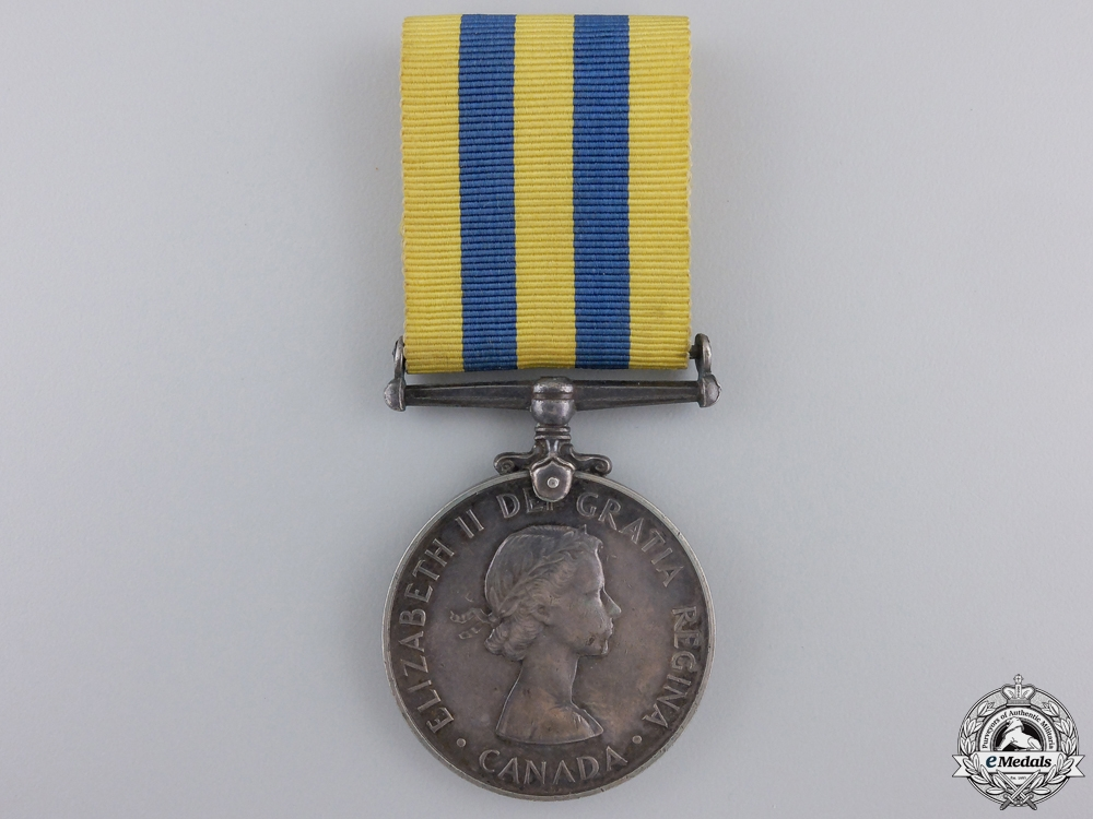 A 1950-53 Canada Korea Medal to F. Wadden
