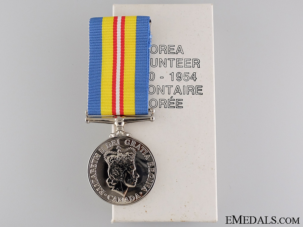A 1950-54 Canadian Korea Volunteer Service Medal