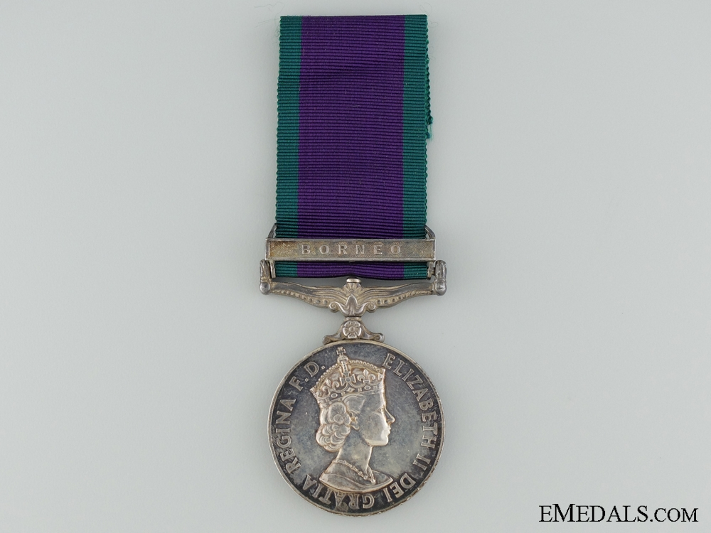 A 1962-2007 General Service Medal to the Assistant Stewart