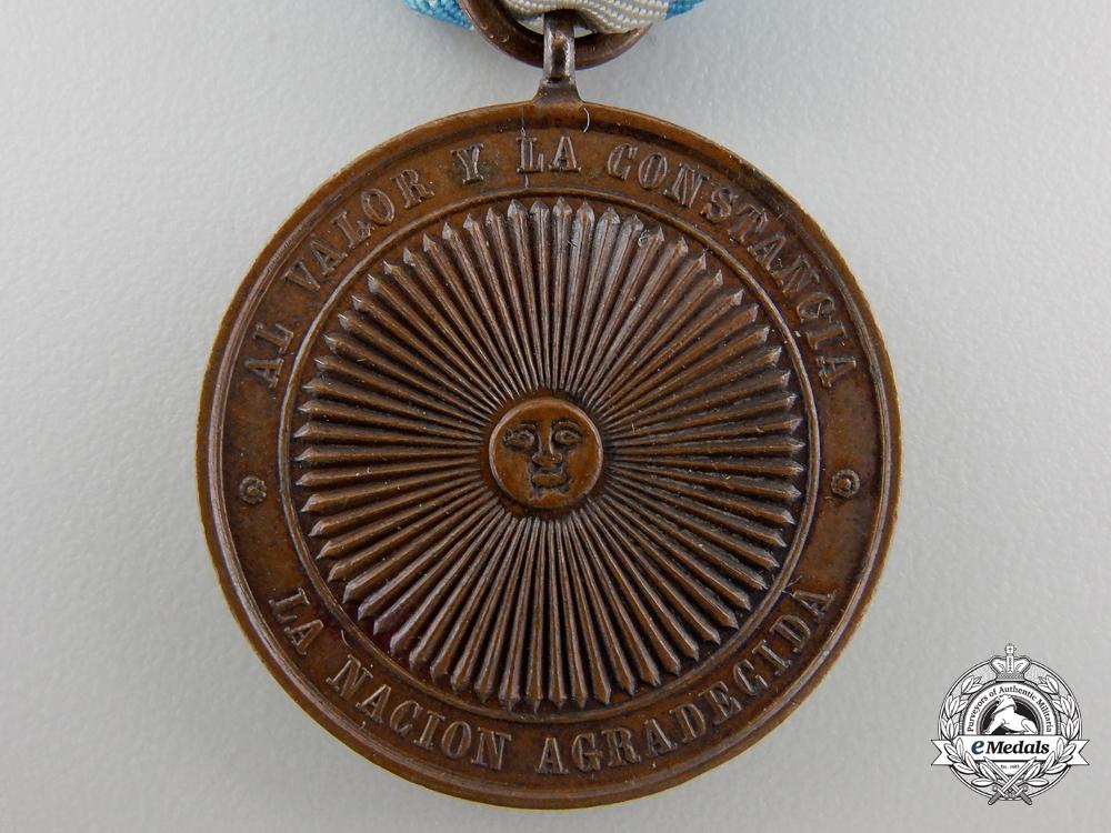 An Argentinian Paraguayan War Medal; Bronze Grade