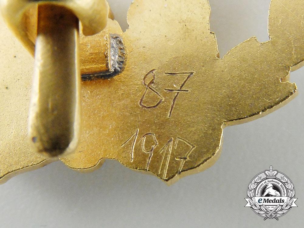 A First War Austrian Flyers Badge 1917-18