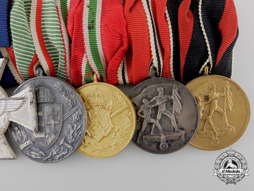 A First War & German Police Service Medal Bar