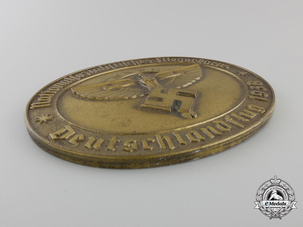 A 1938 NSFK Award Medallion; Numbered