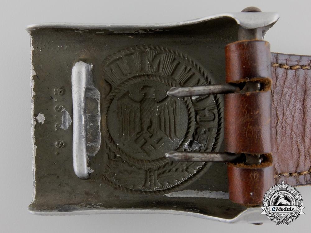 An Army (Heer) EM/NCO's Buckle & Tab 1942 by Richard Sieper & Sohne