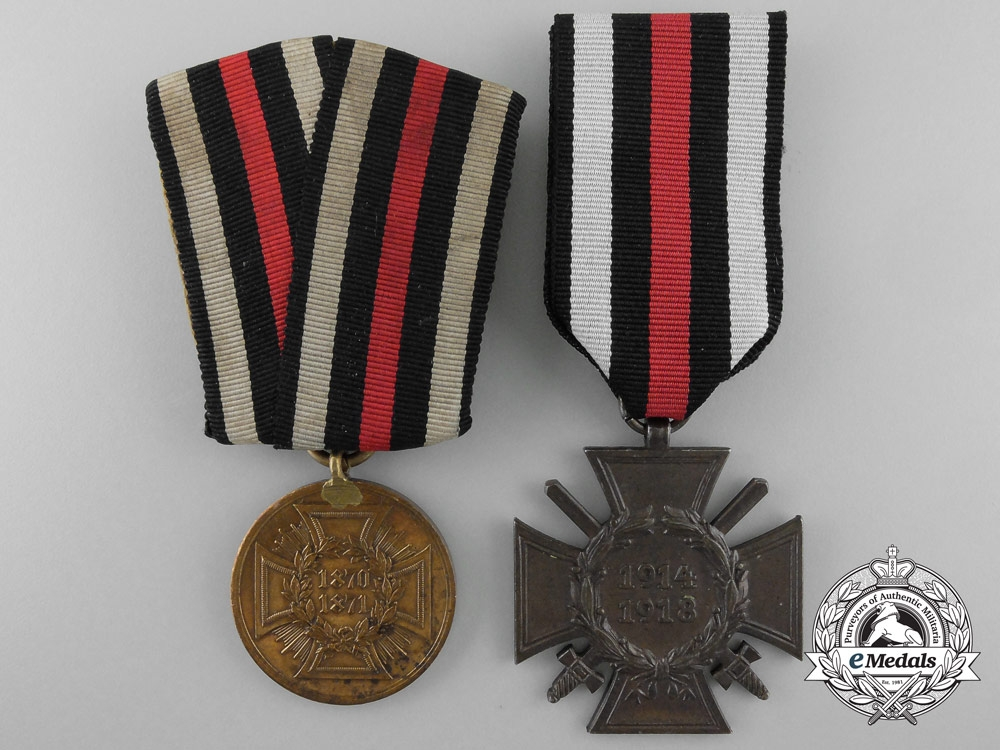 Two Prussian Medals and Awards