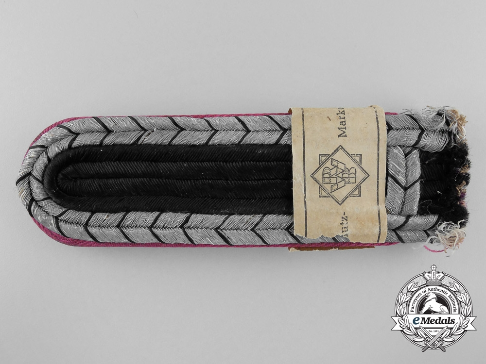 A Set of Mint German Fire Police Un-Issued Shoulder Boards