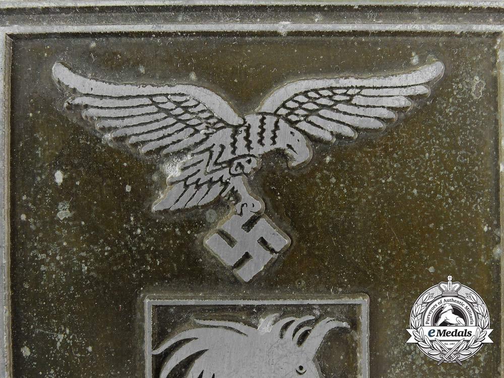 A Luftwaffe Pilot Training School A/B 5 Award Plaque