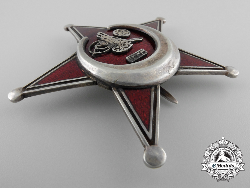 An Oversized 1915 Turkish Campaign Star (Iron Crescent 1915) with Case