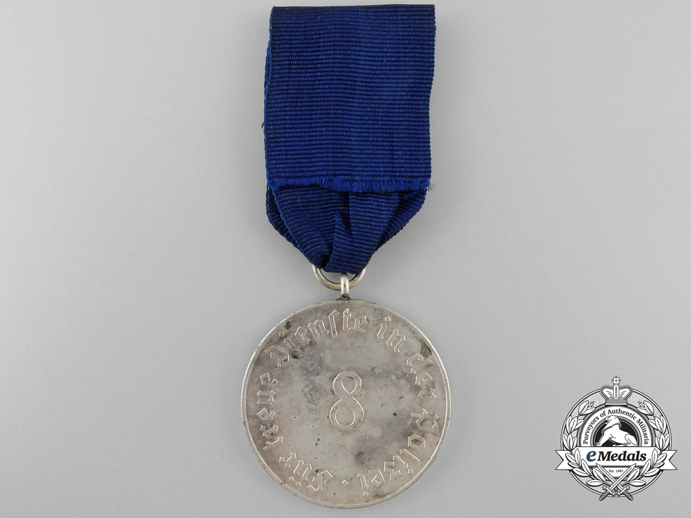 A German Police Eight Year Service Medal
