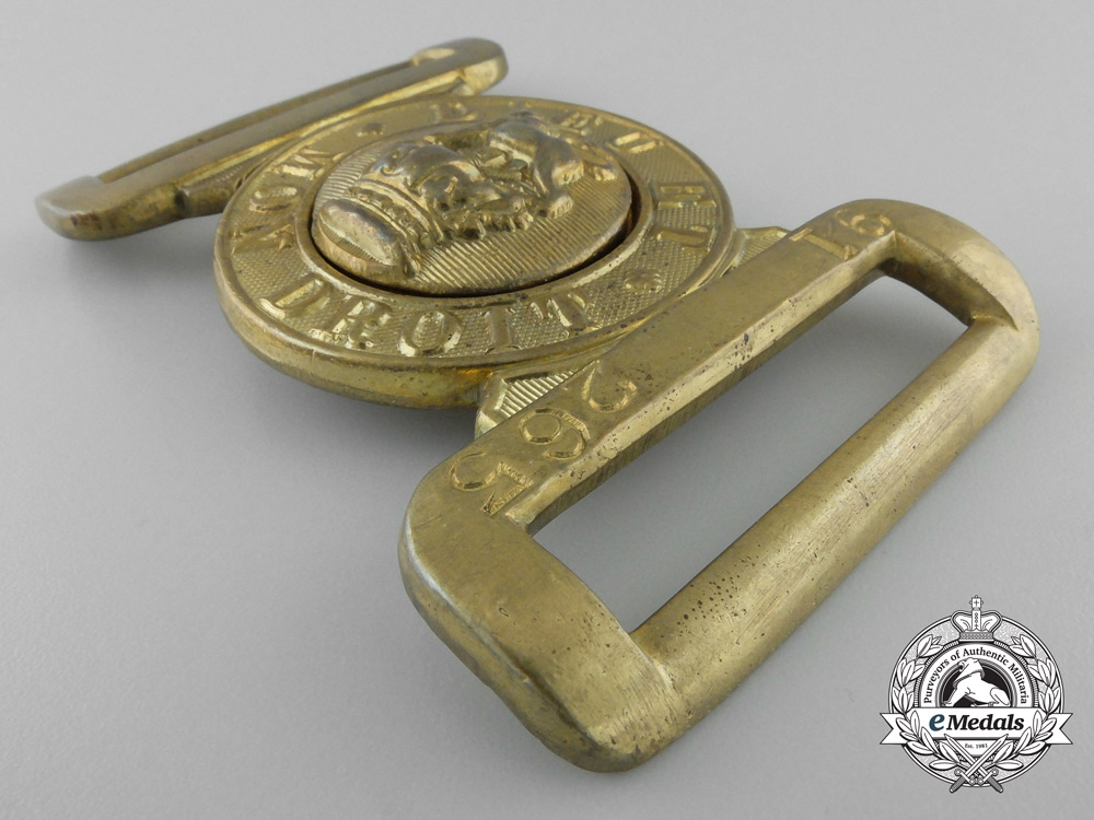A Canadian Victorian General Service Belt Buckle