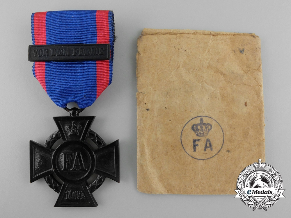 An Oldenburg Friedrich August Cross; 2nd Class with Packet