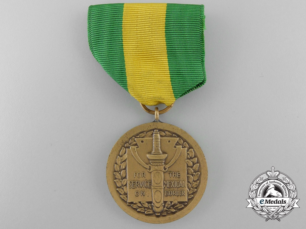 An American Mexican Border Service Medal with Box of Issue