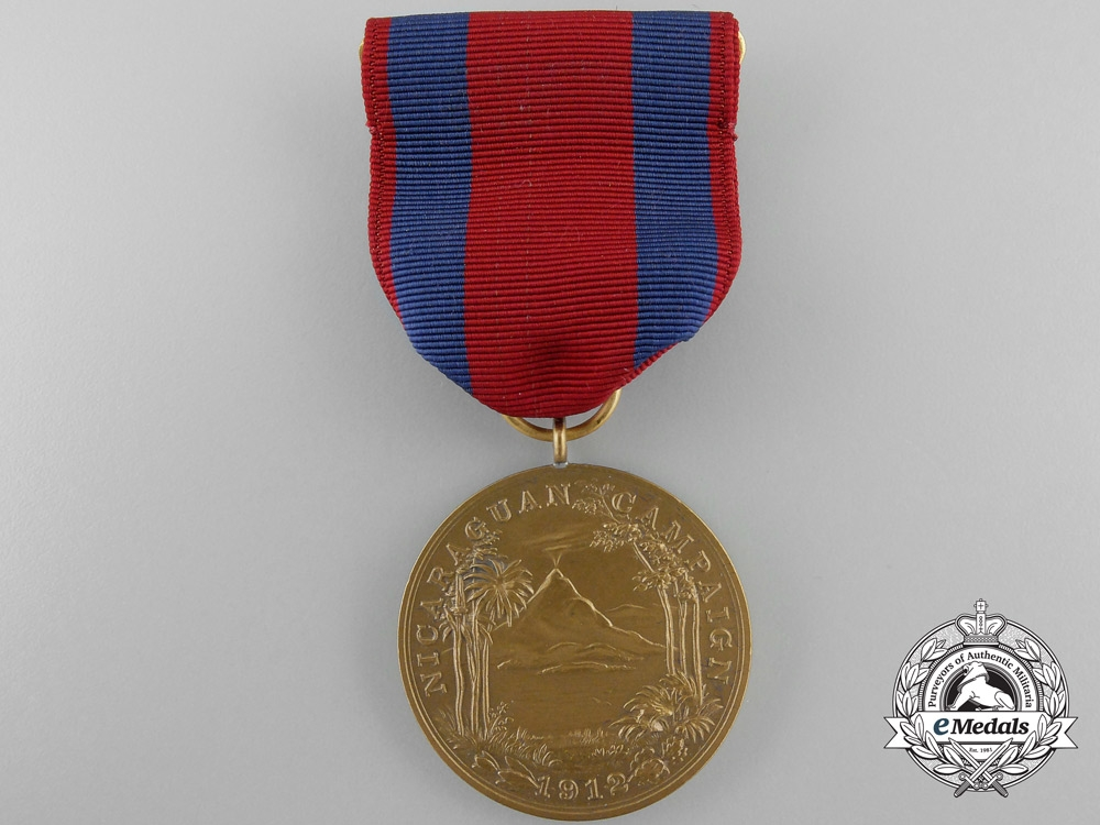 An American Navy Nicaraguan Campaign Medal 1912 with Box of Issue