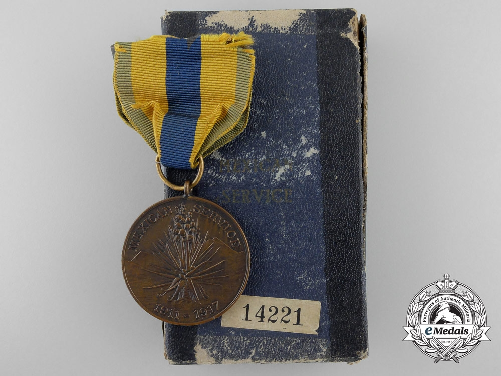 An American Army Mexican Service Medal 1911-1917 with Box of Issue