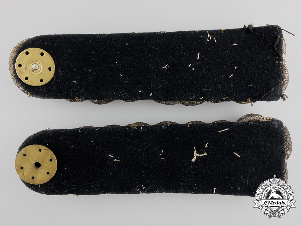 A Pair of Unusual Early Canadian Militia Officer's Epaulettes