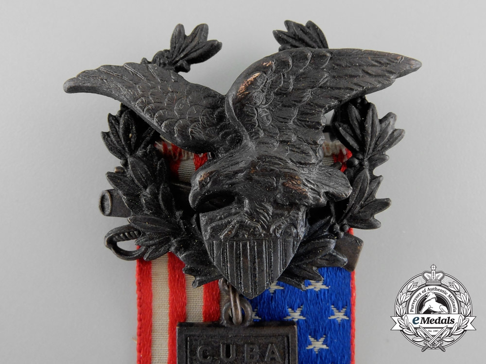 An American United Spanish War Veterans Medal with Box