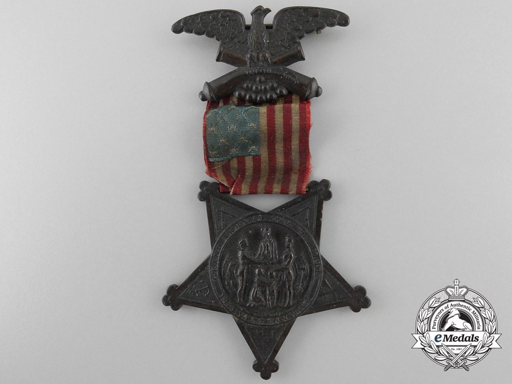 An American Grand Army of the Republic Veteran's Cross with Case