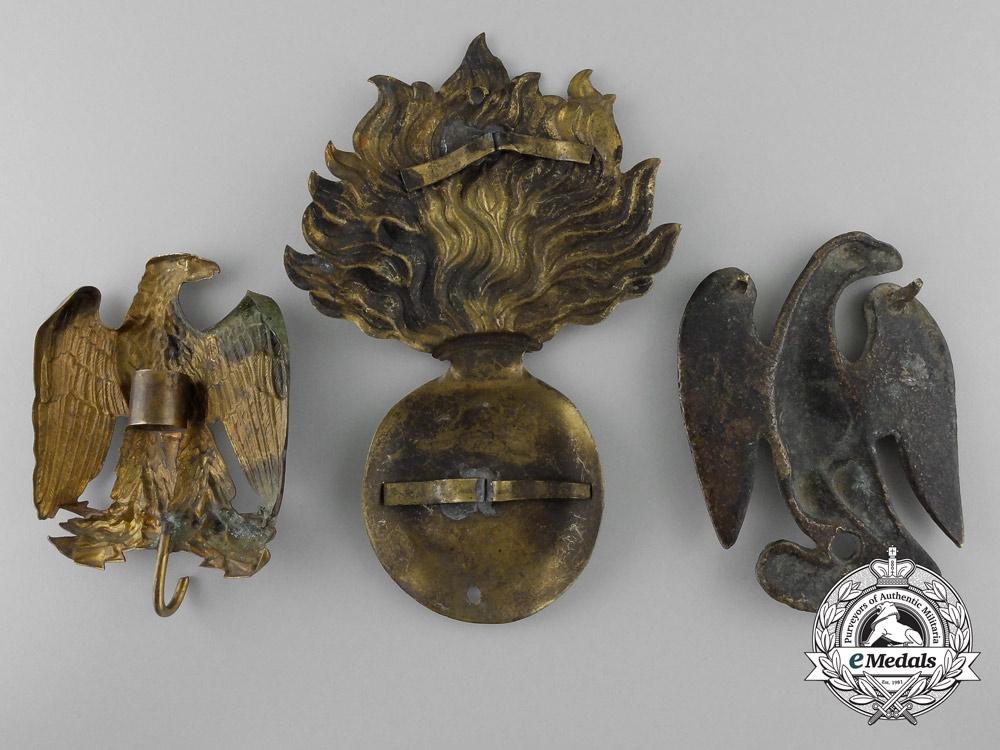 France, Napoleonic Period. Three Regimental Badges