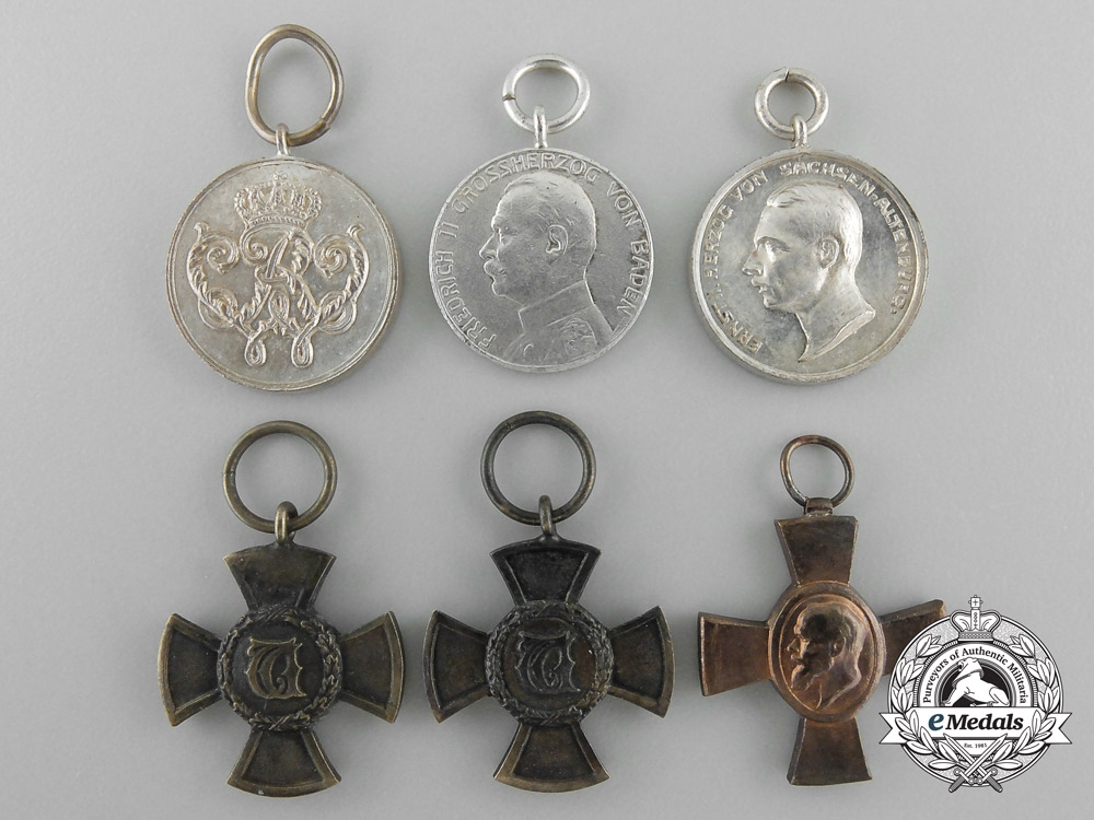 Six Miniature German Imperial Orders & Decorations