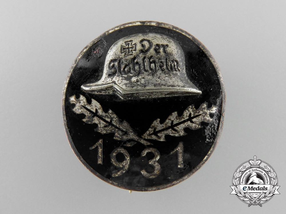 A 1931 Stahlhelm Membership Badge