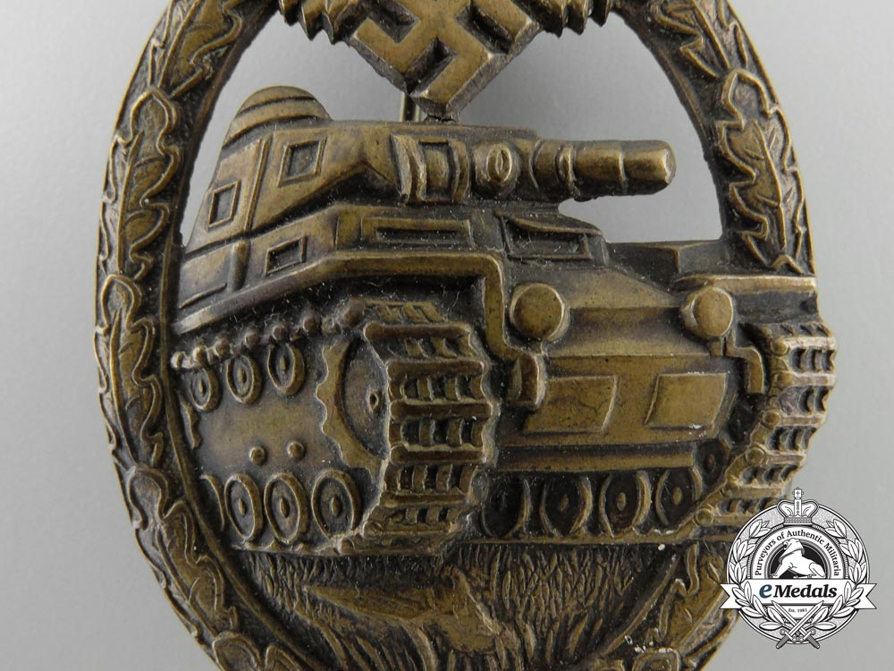 Germany. A Panzer Badge, Bronze Grade, c.1939