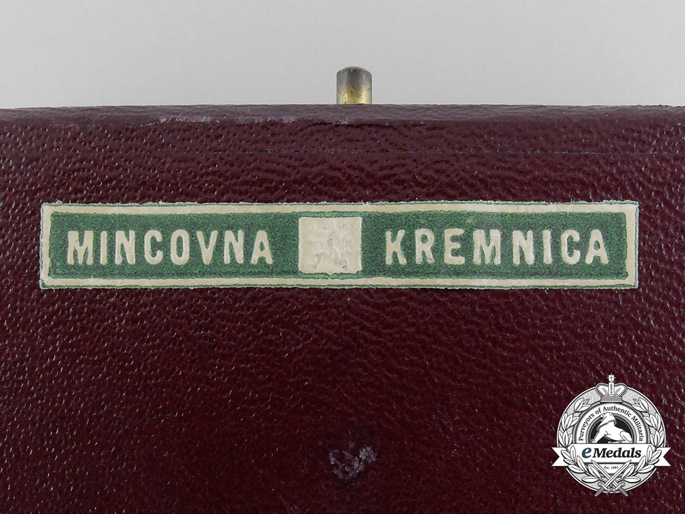 A 1937 Czechoslovakian Military Games Award with Case