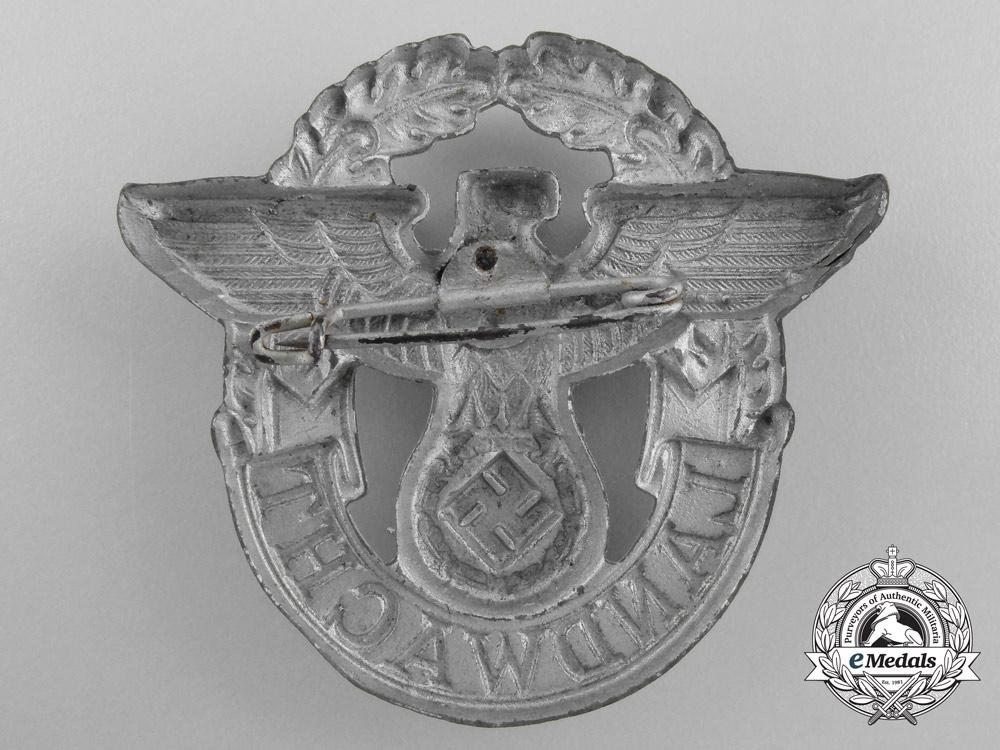 "Germany, Police. A ""Landwacht"" Auxiliary Police Visor Cap Eagle"