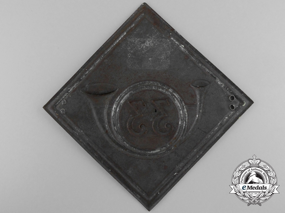 A Waterloo Period French 33rd Regiment Helmet Plate