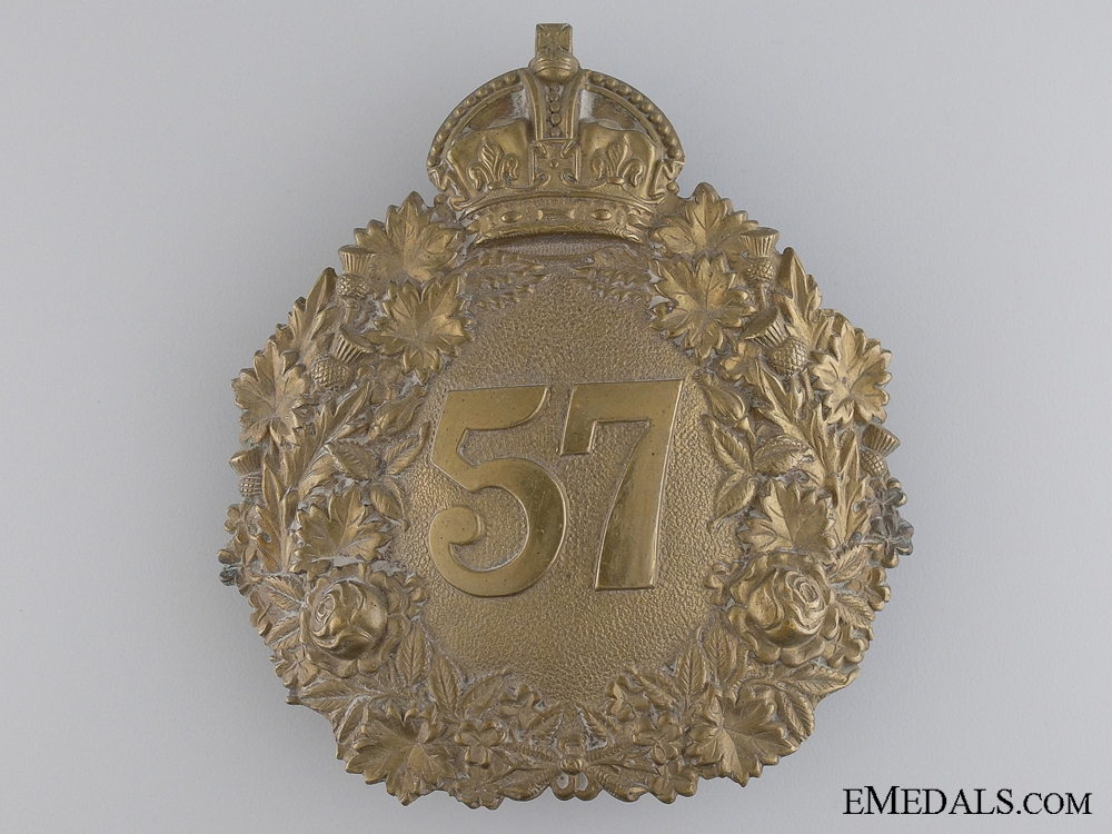 A 57th Peterborough Rangers Militia Helmet Plate