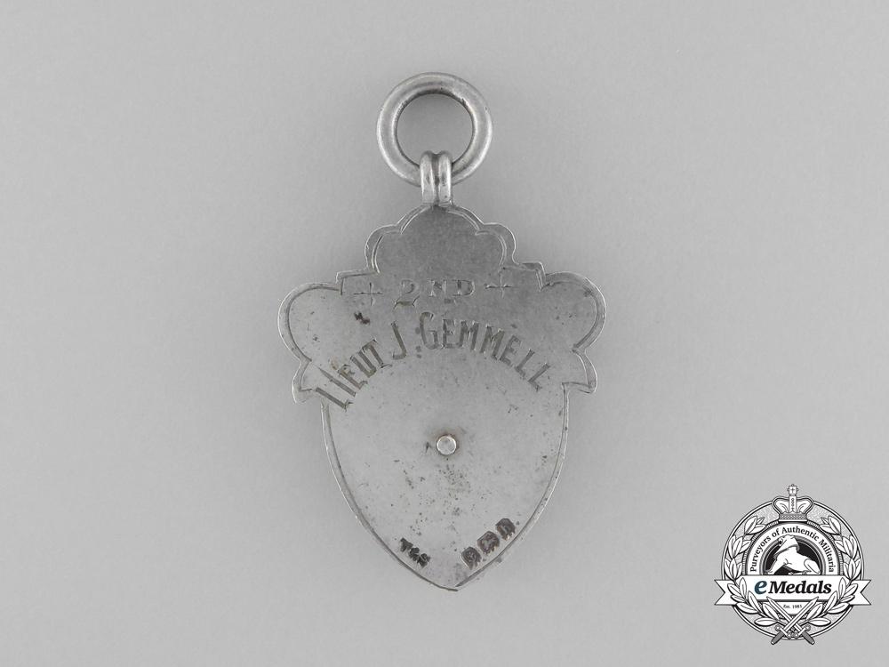 A 1907 Royal Engineers Training Battalion Cricket League Award to 2nd Lieutenant Gemmell
