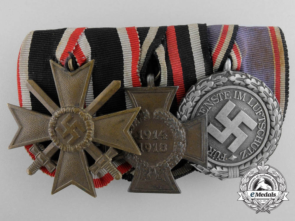 A German Medal Bar with Three Awards