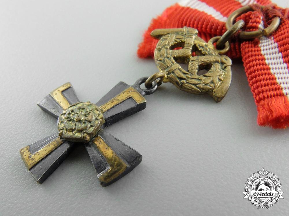A Miniature Finnish Order of the Cross of Liberty; Third Class