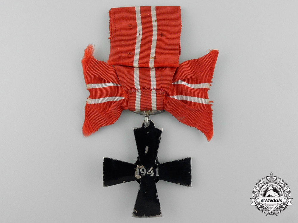 A Finnish Order of the Cross of Liberty; Fourth Class 1941