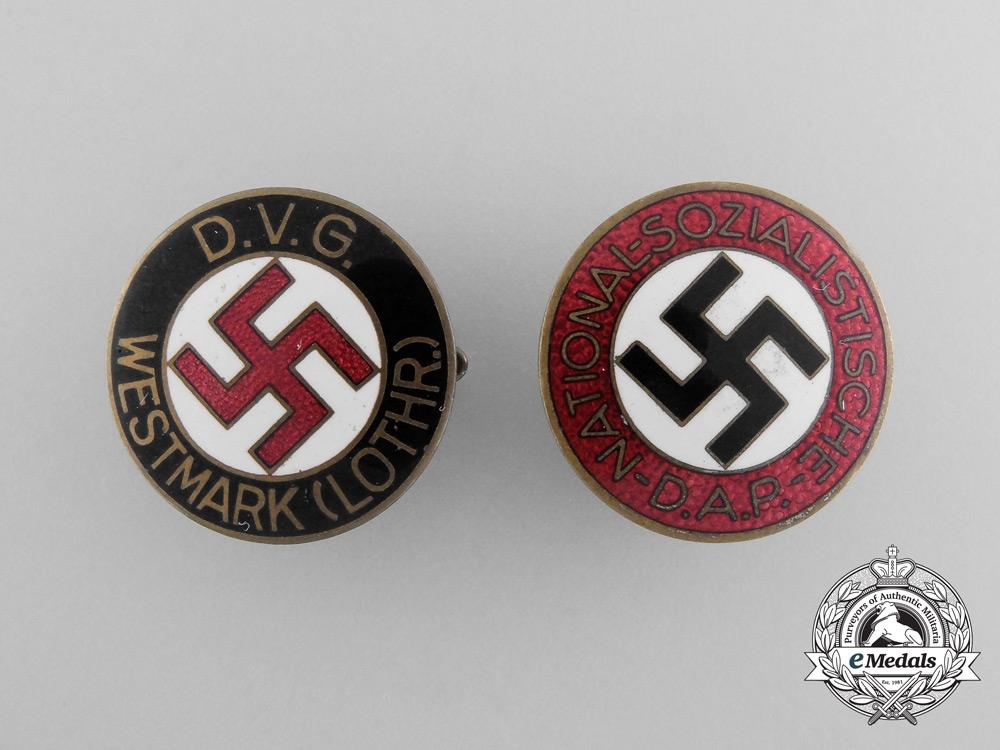 Two NSDAP Membership Badges