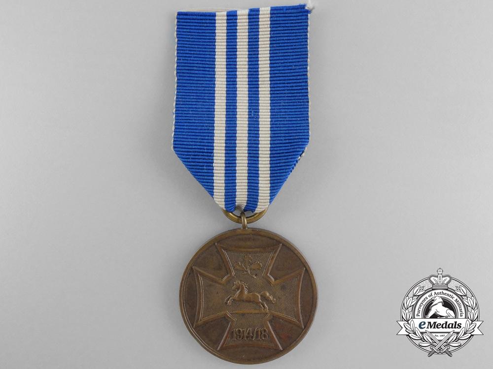 Hanover. A Military Association  War Medal, c.1918