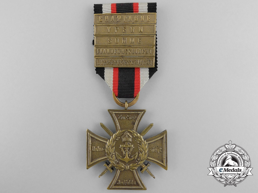 A German Imperial Naval Corps Flanders Cross with 5 Clasps