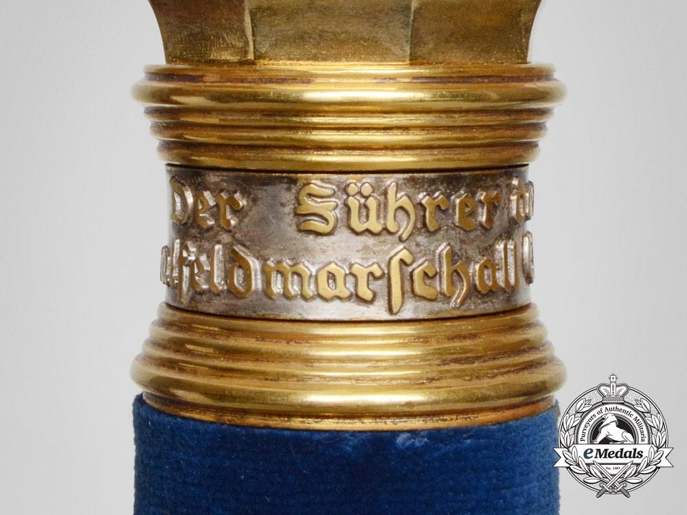 A Field Marshal's Baton Named to Generalfeldmarschall Wolfram Richthofen