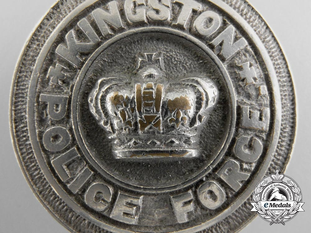 An Early City of Kingston, Ontario Police Force Badge; Numbered
