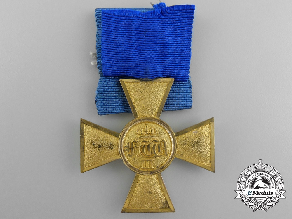 A Prussian Officer's 25 Years Service Cross