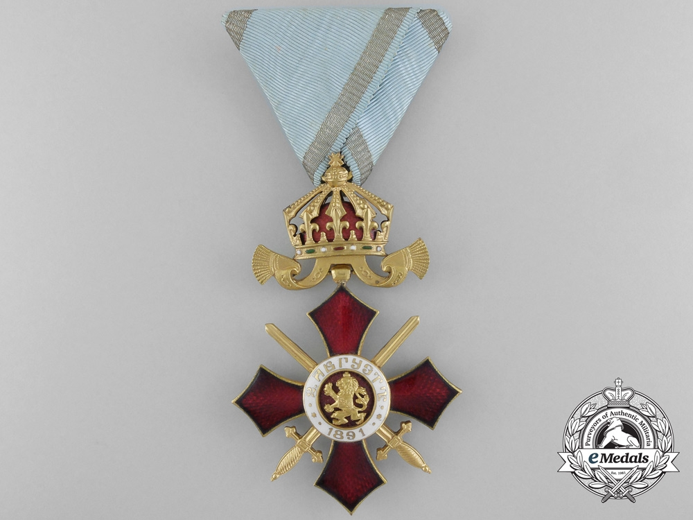 Bulgaria, Kingdom. An Order of Military Merit, Officer 4th Class with Case