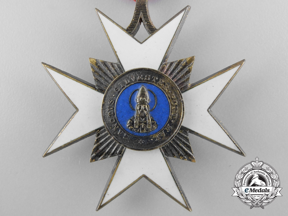 An Order of St. Sylvester by Austrian Maker Rothe
