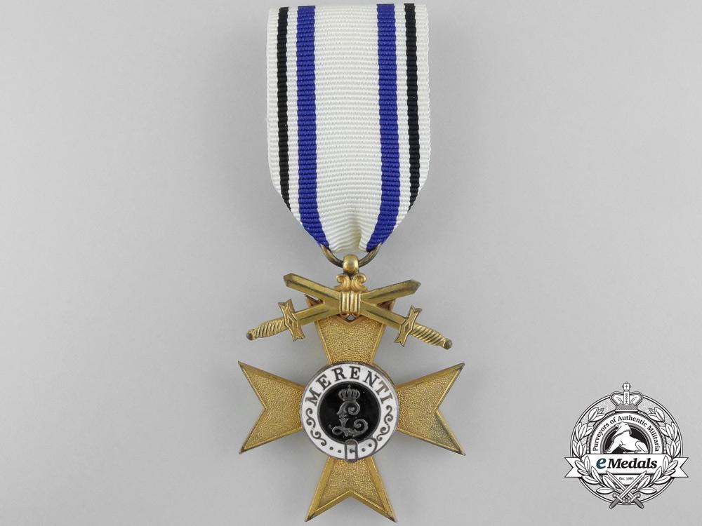 A Bavarian Military Merit Order; Merit Cross 1st Class with Swords